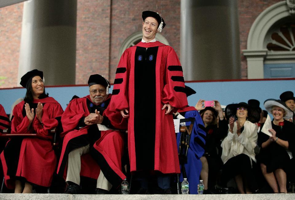 mark zuckerberg harvard honorary graduate 2017