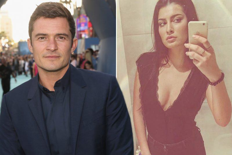 orlando bloom with fired waitress