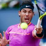 rafael nadal beating back dominic thiems balls in madrid open