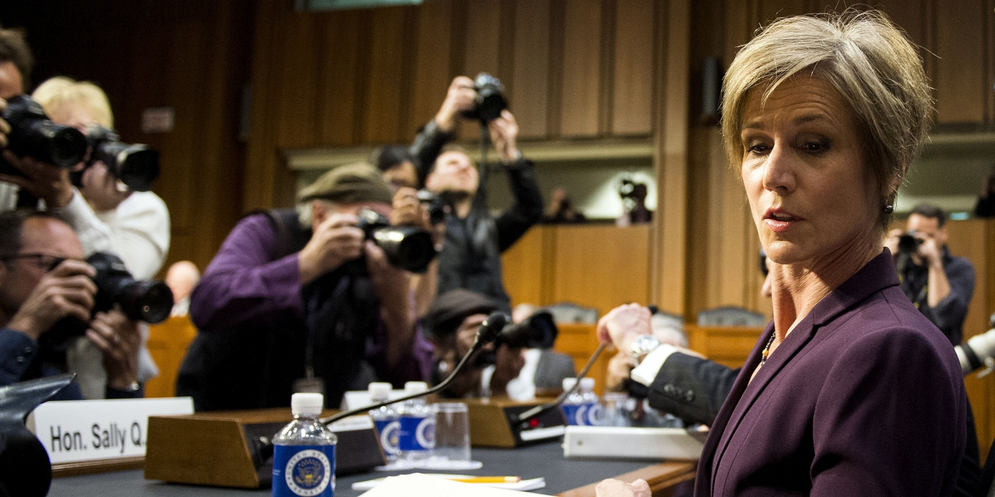 sally yates puts fear into donald trump 2017 images