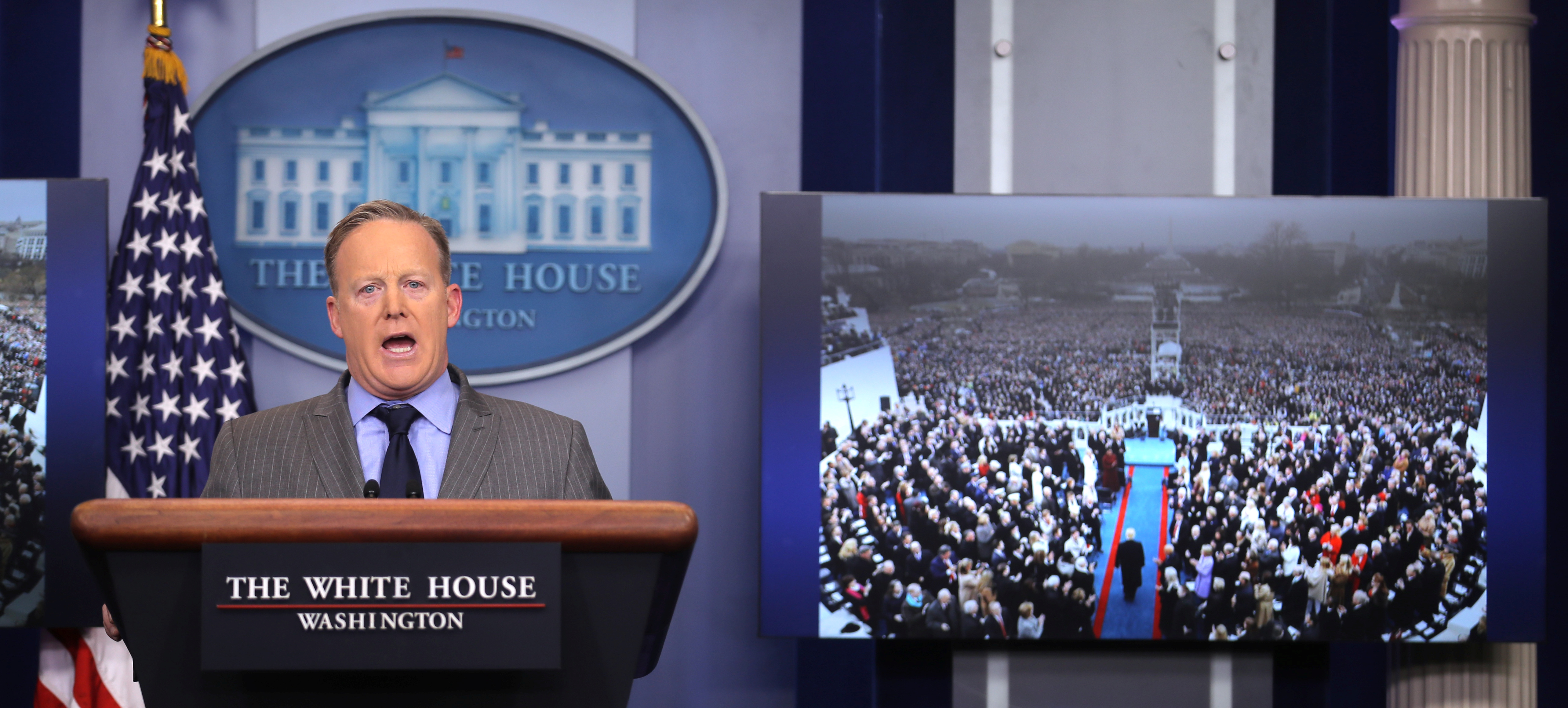 sean spicer on donald trump inauguration crowd size