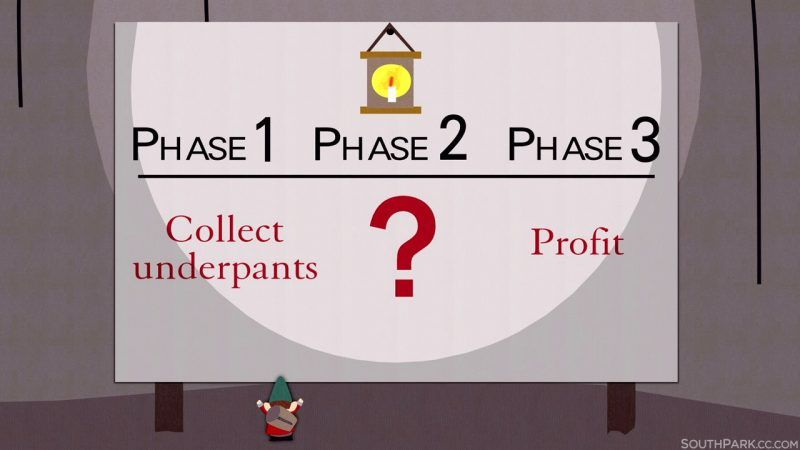 south park underwear gnomes profit plan donald trump