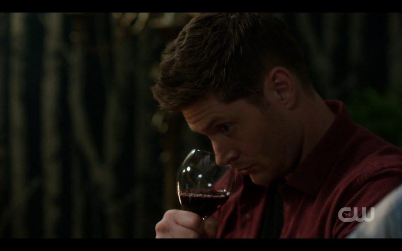 supernatural dean winchester smelling red wine glass