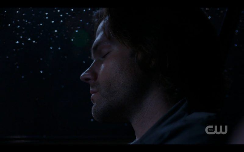 supernatural sam winchester sleeping in impala