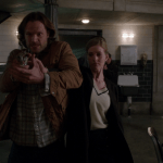 supernatural sam winchester with gun at ketch