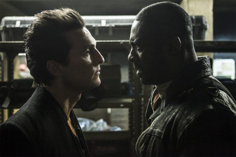 matthew mcconaughey with idris elba fight dark tower