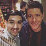 tim carlson with supernatural jensen ackles movie tv tech geeks interviews