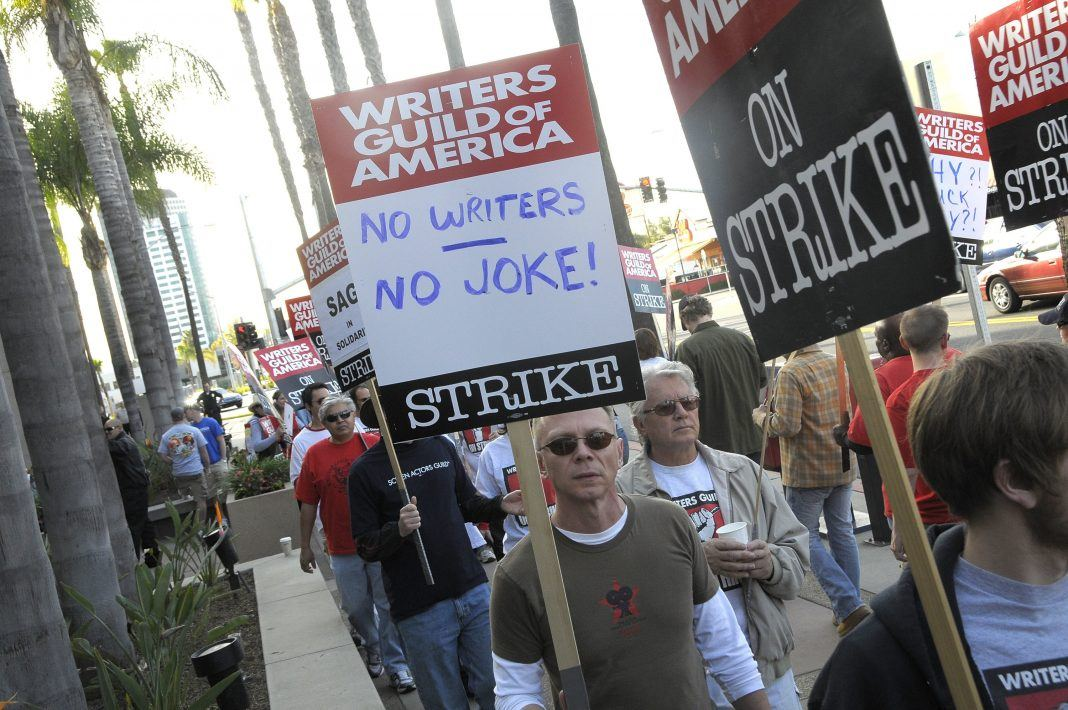 wga strike hitting hollywood movies tv