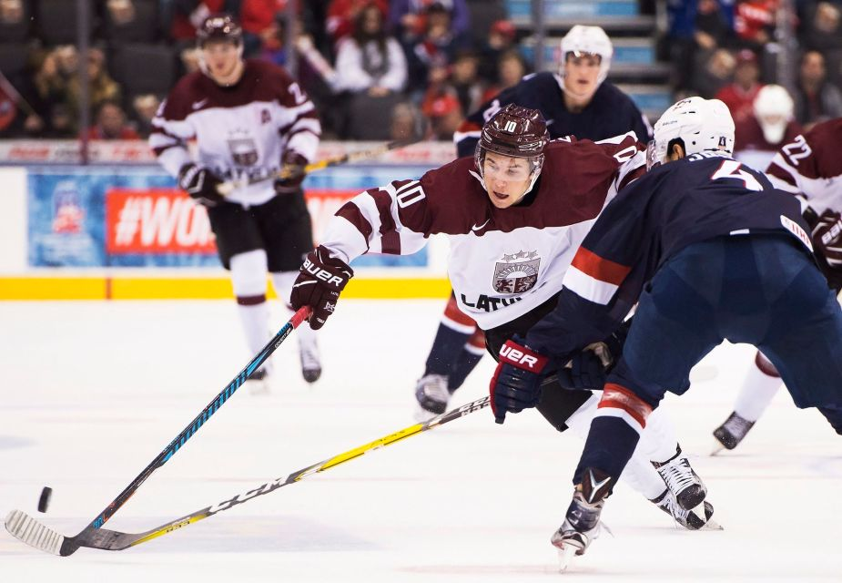 andrew copp helps usa ice hockey team beat latvia