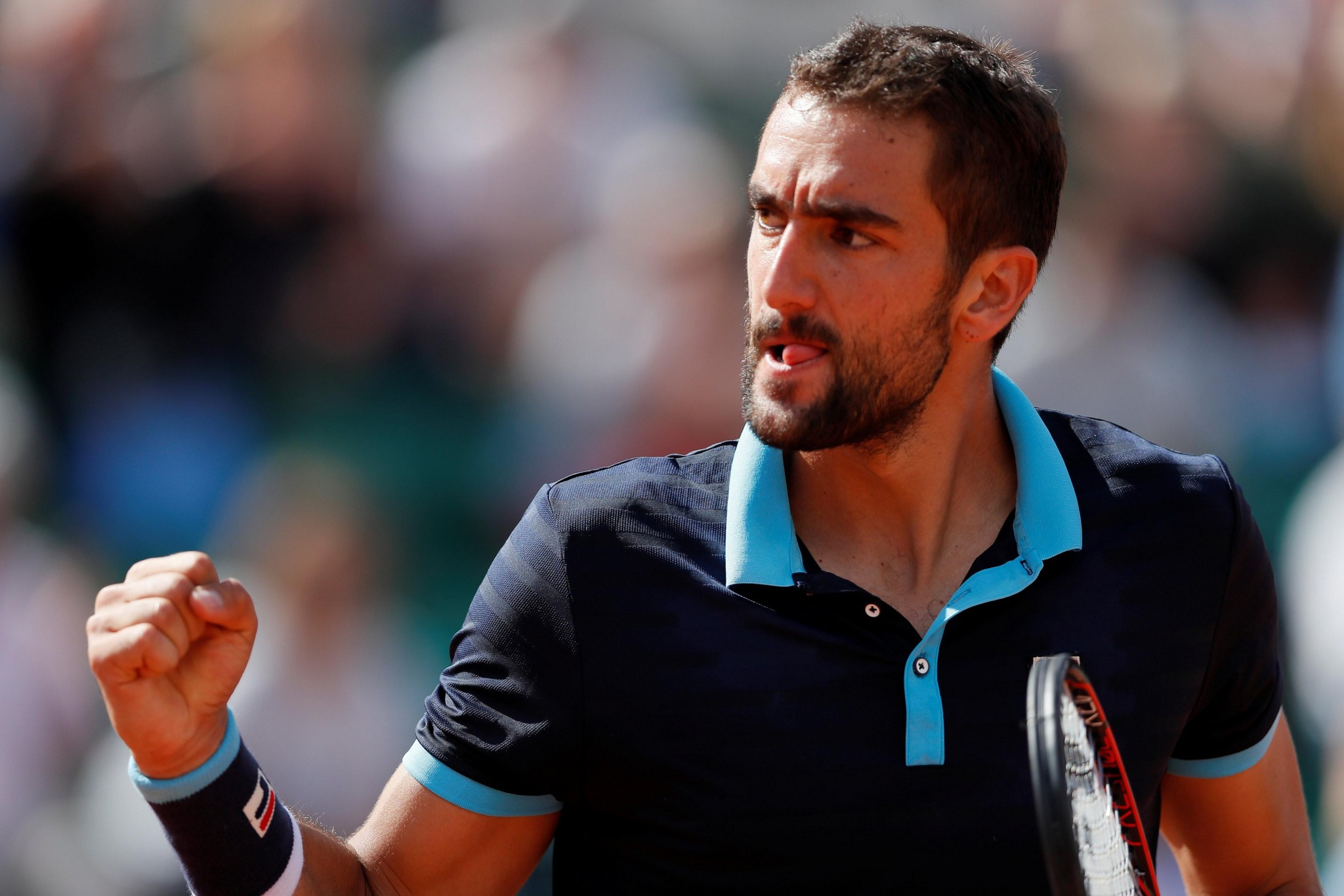 2017 French Open Update - Marin Cilic Looking Deadly images