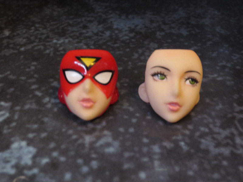 Kotobukiya Bishoujo Spider Woman mask and no mask
