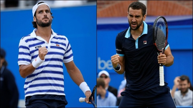 Marin Cilic and Feliciano Lopez working their queens tennis