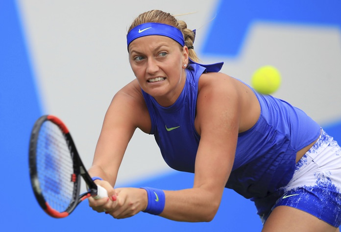 Petra Kvitova advances at aegon classic