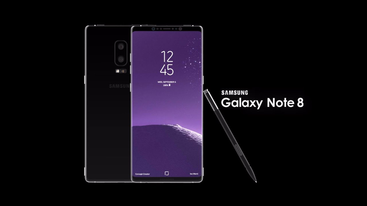 galaxy note 8 front back