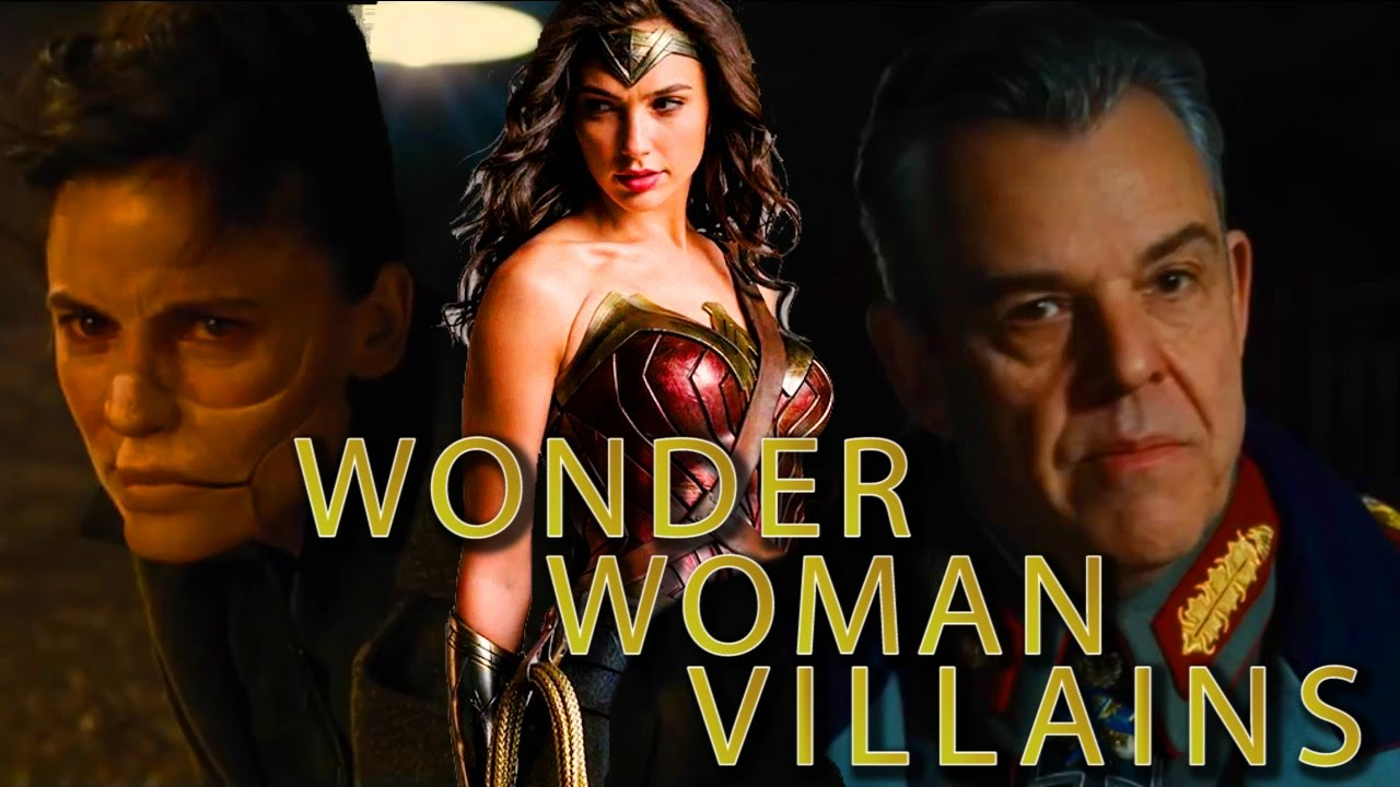 wonder woman gal gadot on movie villains