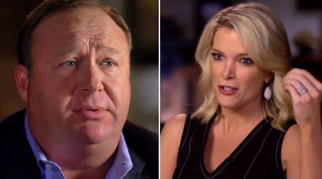 alex jones bringing megyn kelly down at nbc 2017
