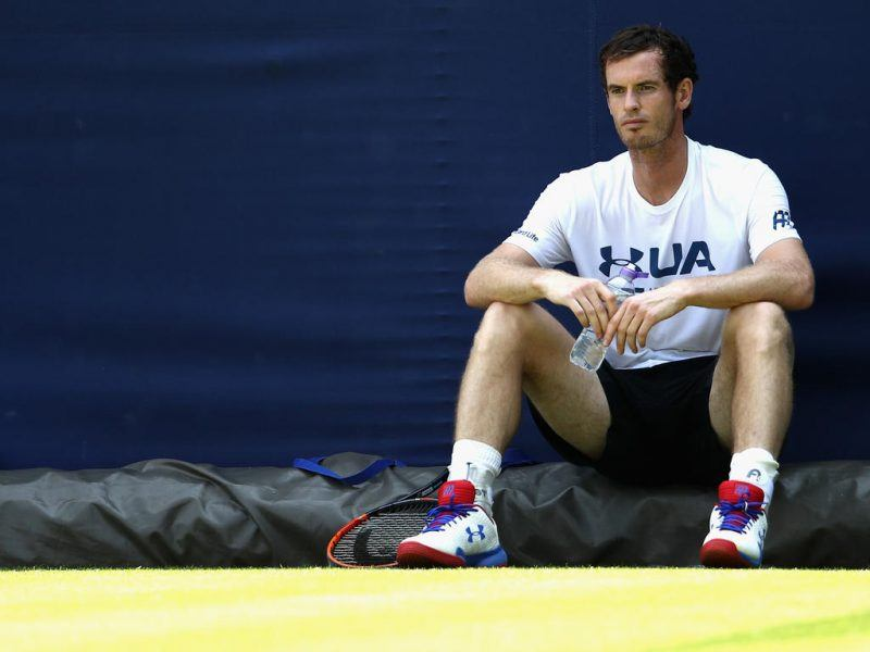 andy murray knocked out of queens by jordan thompson 2017 images