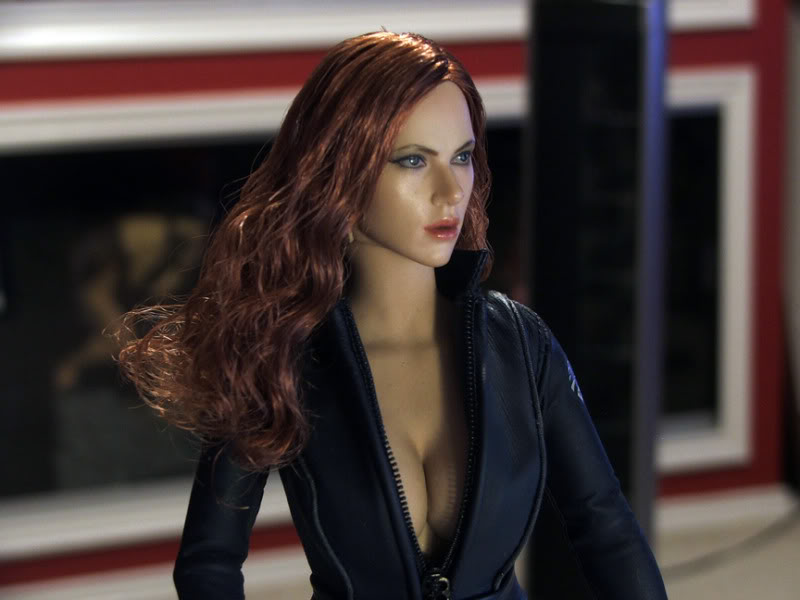 black widow avengers close up
