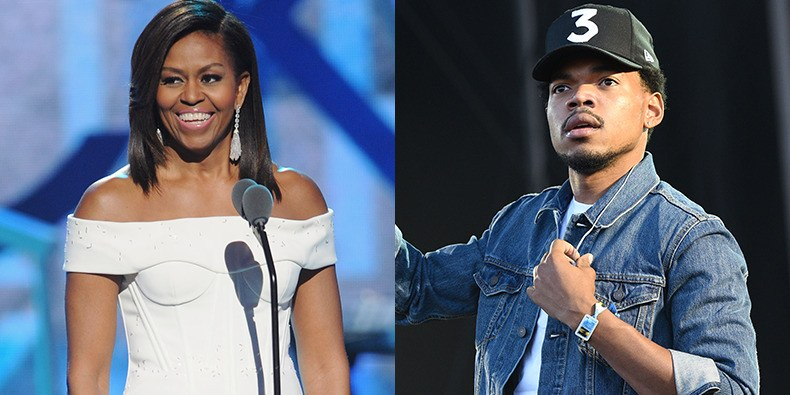 chance the rapper moved by michelle obama