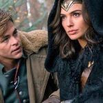 chris pine with gal gadot in wonder woman