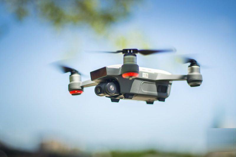 dji spark drone mini in flight images