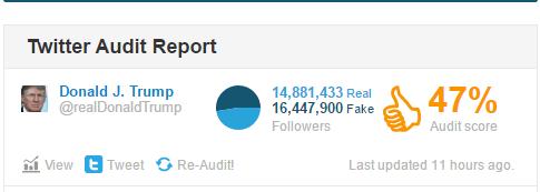 donald trump fake twitter followers audit