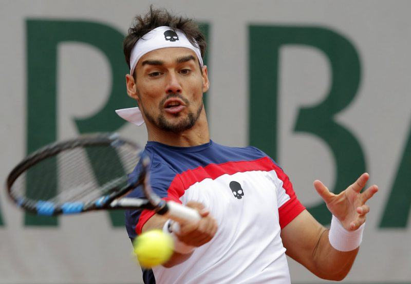 fabio fognini struggles with stan wawrinkas balls french open