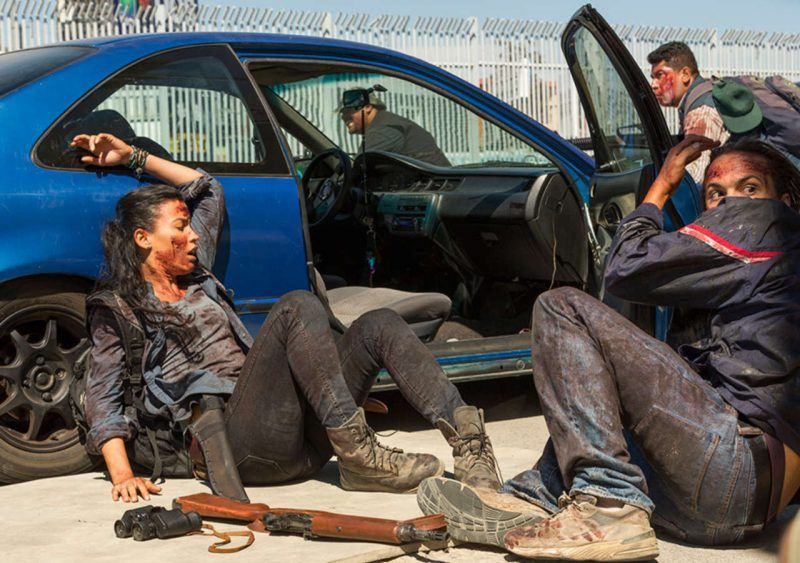 fear the walking dead nick under fire in north