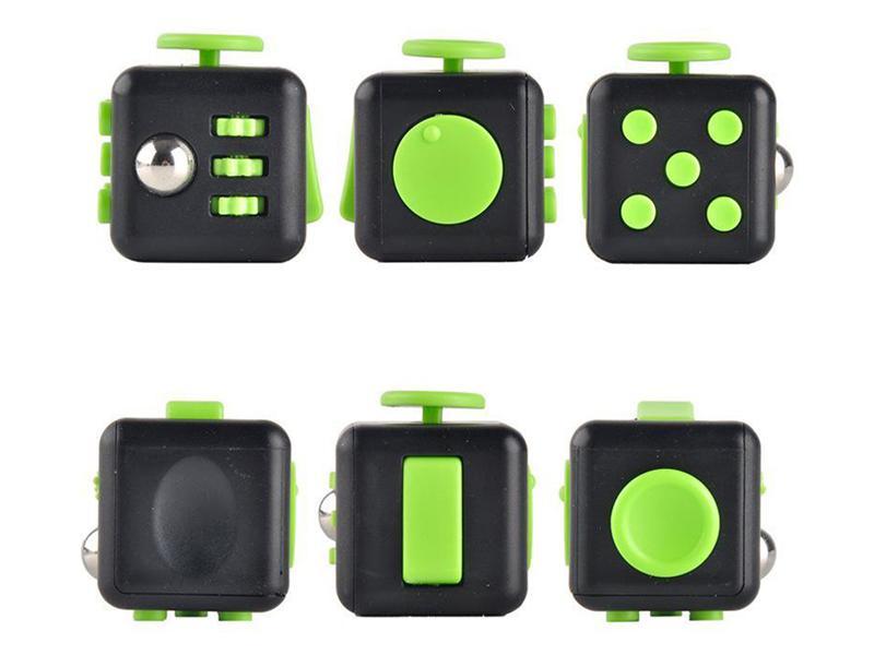 fidget cube green add stress