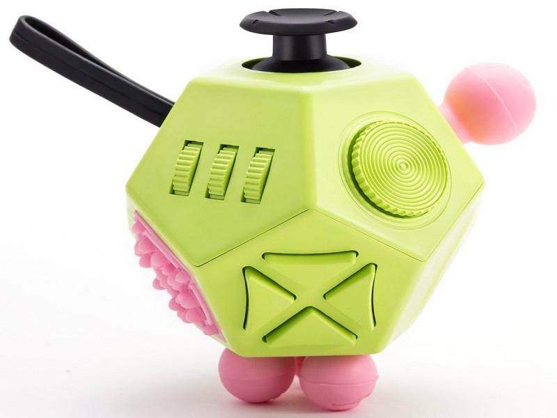 fidget cube green pink toys movie tv tech geeks