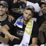 golden state warriors stephen curry champagne celebration