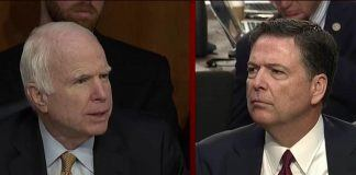 john mccain odd questions for james comey 2017
