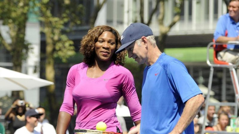 john mcenroe wont give serena williams men wins