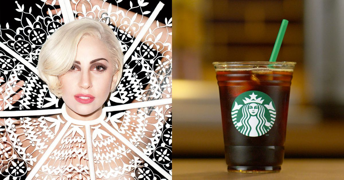 lady gaga starbucks special drinks