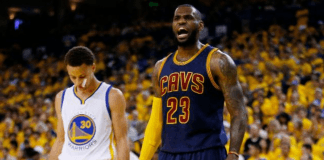 lebron james defends golden state warriors 2017