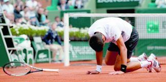 novak djokovic french open fall