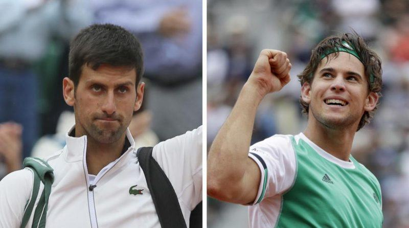 novak djokovic loses to dominic thiem at 2017 french open images
