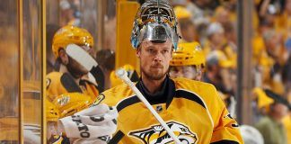 pekka rinne leads predators to victory with 5-1 against penguins 2017 images