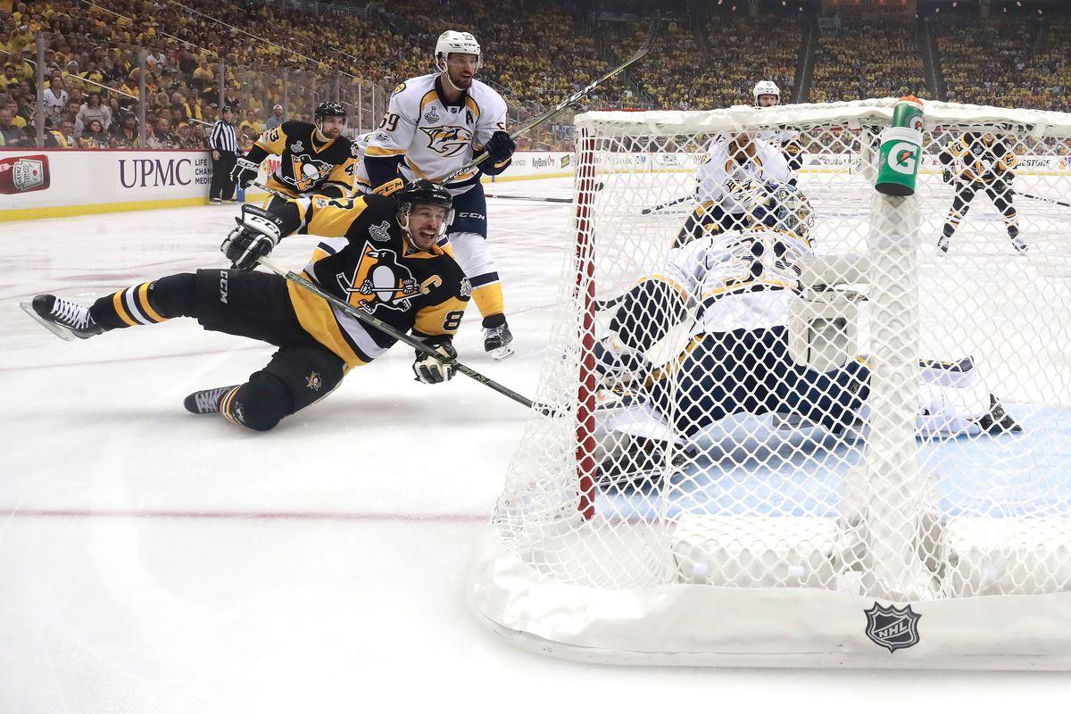 stanley cut finals penguins annihilate predators 6-0 for 3-2 lead 2017 images