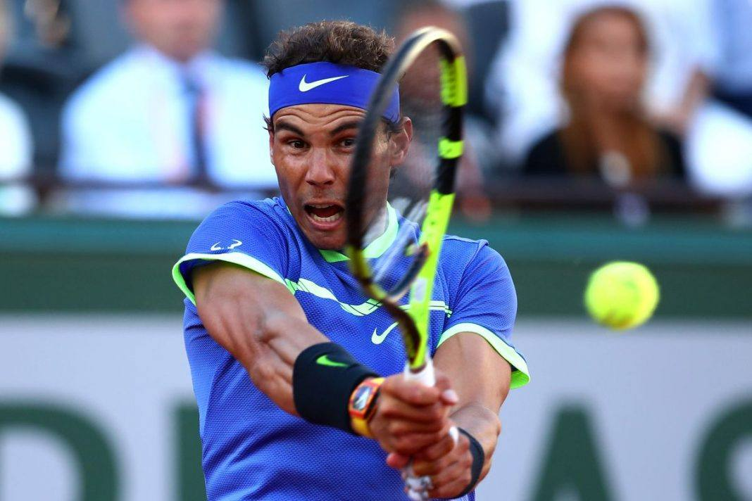 rafael nadal beats off dominic thiem french open