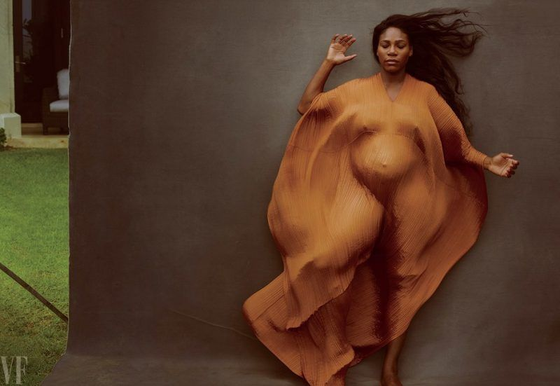 serena williams vanity fair preganant cover