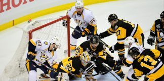 stanley cut finals penguins annihilate predators 6-0 for 3-2 lead 2017 images