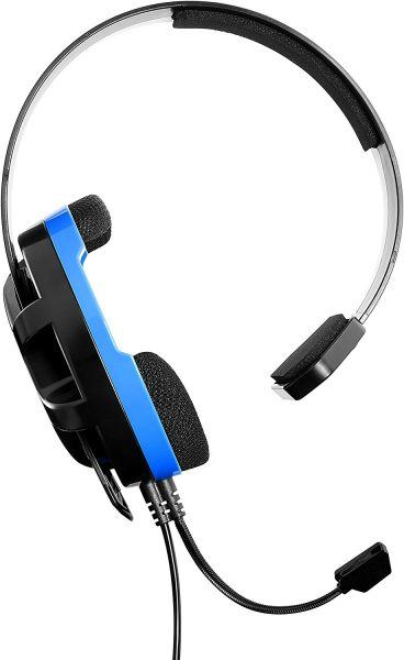 turlet beach gamer blue headset frontal view