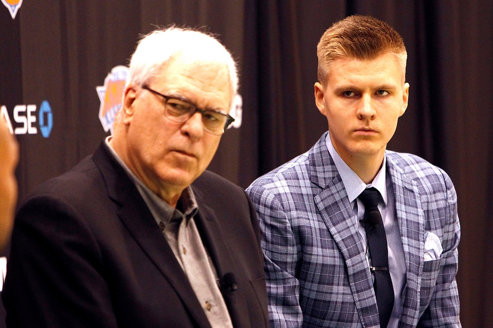 what went wrong with knicks phil jackson and kristaps porzingis 2017 images