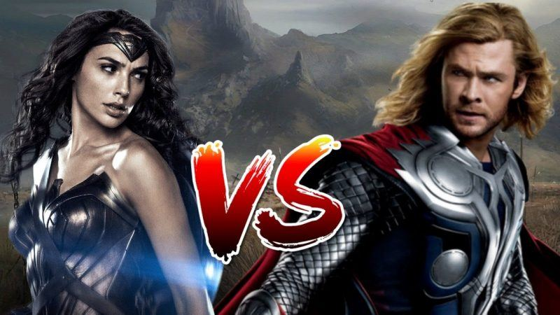 wonder woman vs thor box office