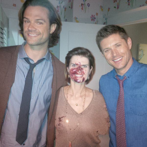 carrie genzel with jared padalecki and jensen ackles movie tv tech geeks