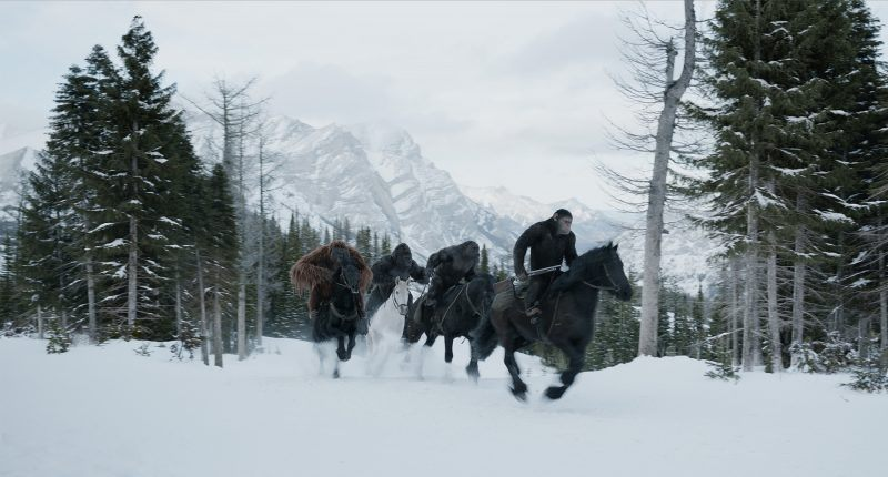 horseback cesar war for the planet of the apes 2017