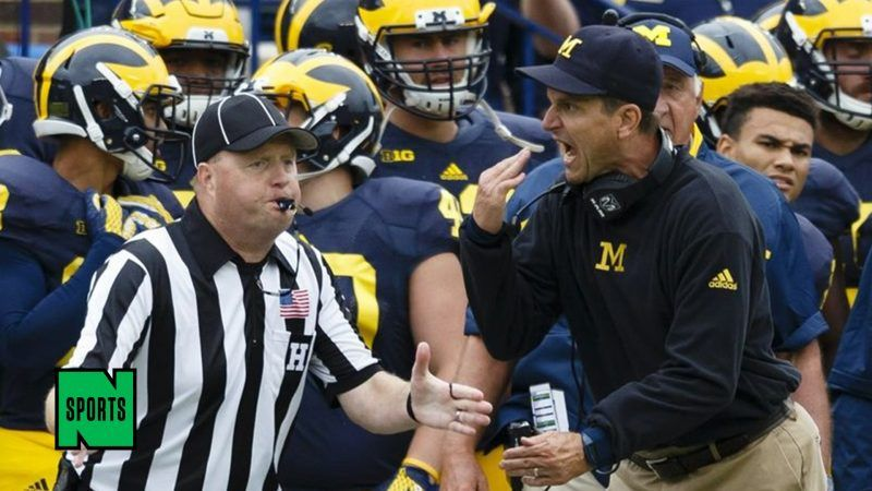 jim harbaugh going crazy with nfl ref