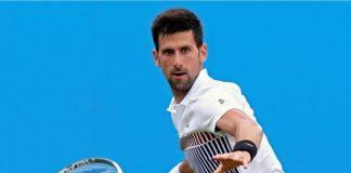 novak djokovic defeats daniil medvedev for eastbourne final 2017 images