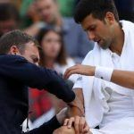 novak djokovic elbow injury affects wimbledon loss